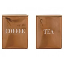 """""""coffee"""" or """"tea"""" copper stainless steel container"""