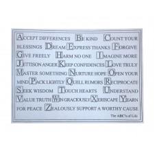 abc's of life plaque