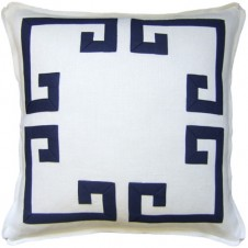 aegean fretwork pillow