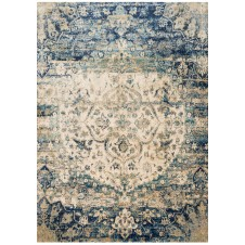 anastasia collection blue & ivory rug