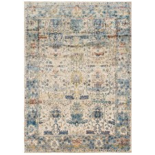 anastasia collection sand & light blue rug