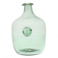 large anchor stamped glass bottle