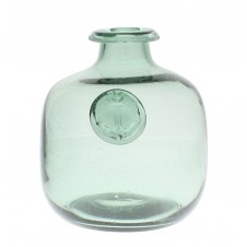 small anchor stamped glass bottle