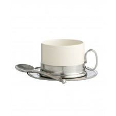 arte italica cappuccino cup & saucer with spoon