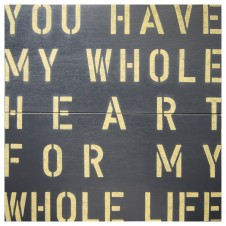 my whole heart antique sign