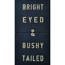 bright eyed and bushy antique sign