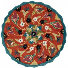 azalea collection coral round rug