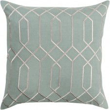 surya skyline link sage pillow