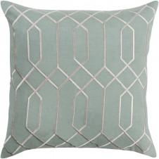 surya skyline link sage pillow