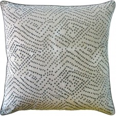batik dot pewter pillow