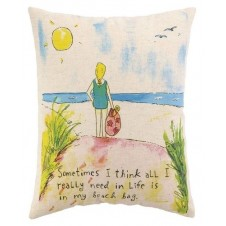 beach bag down pillow