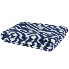 eco mod square throw blanket cobalt