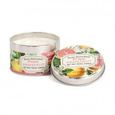 michel design works pink grapefruit travel candle tin