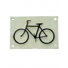 homart cast iron bicycle sign