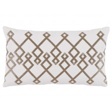 lacefield chevron bisque embroidery lumbar pillow