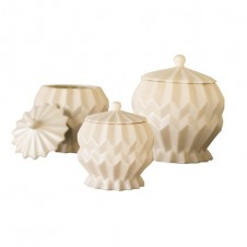 geometric cermaic canisters set of 3