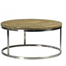 round chrome coffee table