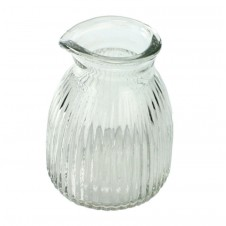homart clare scalloped glass pitcher