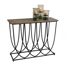 art deco iron console
