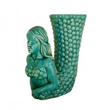 turquoise ceramic mermaid vase