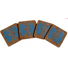 hobie surfboard cork coaster set