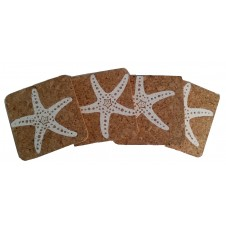 starfish cork coaster set