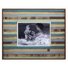 large rustic striped boatwood frame