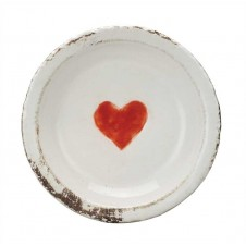 terra cotta plate w/ heart