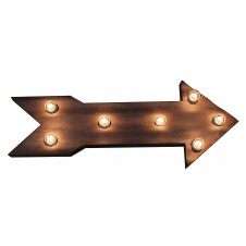 metal electric arrow sign with lights