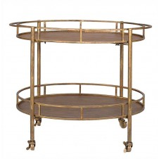 metal 2-tier bar cart