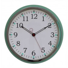 metal wall clock, aqua