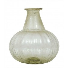 recycled hand blown glass vase, large, green