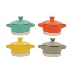 creative coop stoneware mini bakers, set of 4