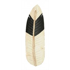 hand painted wood feather tray