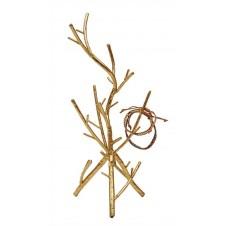 metal twig jewelry holder, gold