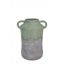 terra cotta vase w/ handles