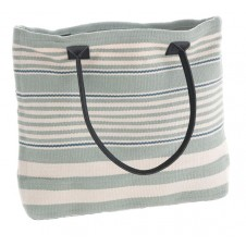 dash & albert rugby stripe light blue tote bag