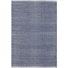 dash & albert herringbone indigo woven cotton rug