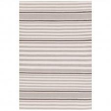 dash & albert beckham stripe platinum indoor/outdoor rug