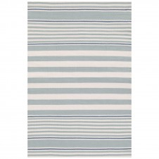 dash & albert beckham stripe light blue indoor/outdoor rug