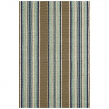 dash & albert blue heron stripe woven cotton rug