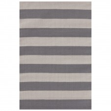 dash & albert catamaran stripe graphite fieldstone indoor/outdoor rug