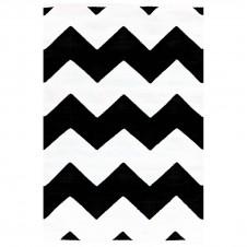 dash & albert chevron black indoor/outdoor rug