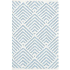 dash & albert cleo blue indoor / outdoor rug