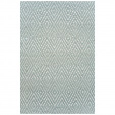 dash & albert diamond light blue ivory indoor/outdoor rug
