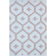 dash & albert elizabeth blue indoor / outdoor rug
