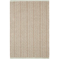 dash & albert fair isle ocean / coffee cotton woven rug