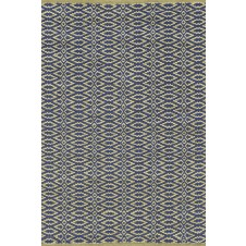 dash & albert fair isle rosemary / ink cotton woven rug