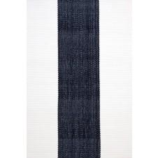 dash & albert lakehouse navy stripe indoor/outdoor rug