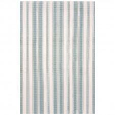 dash & albert lighthouse light blue ivory indoor/outdoor rug
